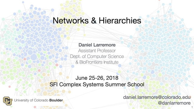 CSSS 2018: Ranking in Networks
